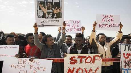 احتجاجات المهاجرين الأفارقة في إسرائيل (صورة من الأرشيف)