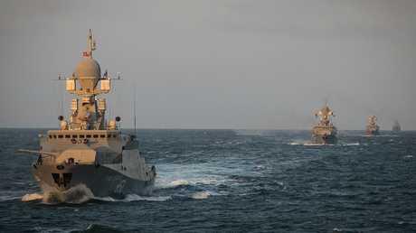 سفن أسطول بحر قزوين (صورة من الأرشيف)