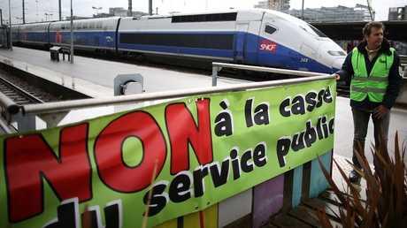 فوضى مع بدء إضرابات اتحادات السكك الحديدية في فرنسا