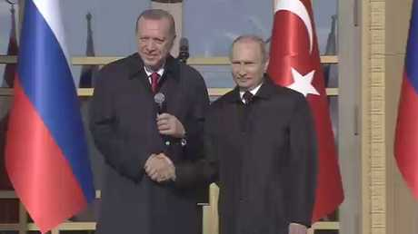 بوتين وأردوغان يضعان حجر الأساس لأكويو