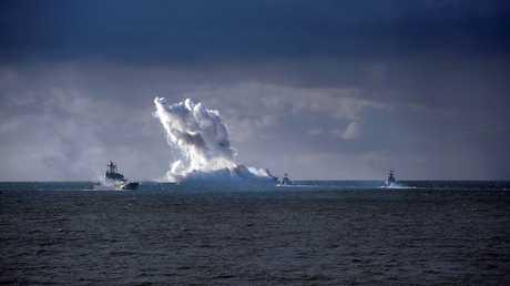 أرشيف - مناورات حربية في بحر البلطيق الروسي، 26 سبتمبر 2013