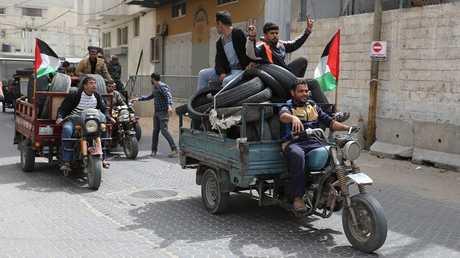 فلسطينيون يستعدون لتظاهرات