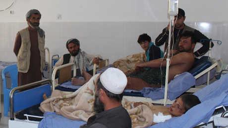 مصابون بغارة الطيران الأفغاني في ولاية قندوز