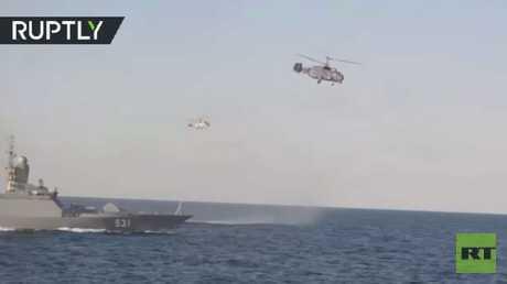 شاهد تدريبات قوات أسطول البحر الأسود الروسي