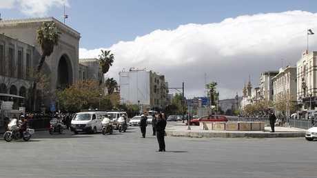 أرشيف  - دمشق شارع النصر بالقرب من القصر العدلي