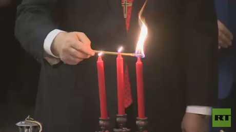 """وصول """"الشعلة المقدسة"""" إلى موسكو"""