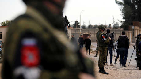 عناصر الشرطة العسكرية الروسية في الغوطة الشرقية