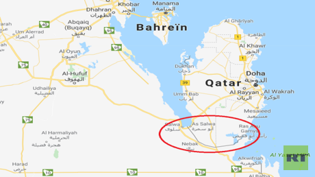 موقع قناة سلوى الذي سيحول قطر إلى جزيرة