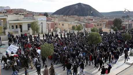 احتجاجات بمدينة جرادة المغربية - أرشيف -