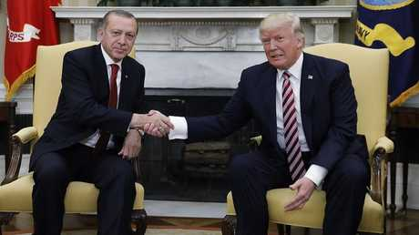 الرئيس التركي رجب طيب أردوغان والرئيس الأمريكي دونالد ترامب