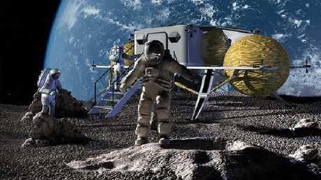 تصور شكل المحطة القمرية