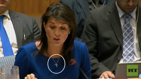 المندوبة الأمريكية الدائمة بمجلس الأمن نيكي هايلي