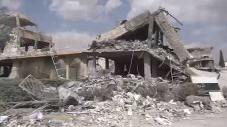 RT تزور المبنى المستهدف في برزة