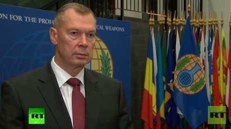 مندوب روسيا لدى منظمة حظر الأسلحة الكيميائية، ألكسندر شولغين