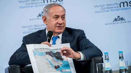 رئيس الوزراء الإسرائيلي بنيامين نتنياهو خلال مؤتمر ميونيخ للأمن