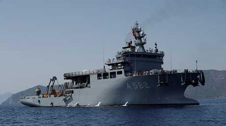 سفينة حربية تركية - أرشيف -