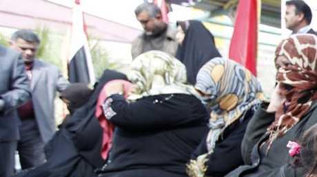 نساء موقوفات في بغداد (صورة أرشيفية)
