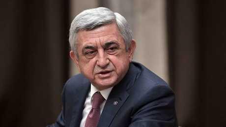 رئيس أرمينيا السابق ورئيس الوزراء الحالي، سيرج سركسيان