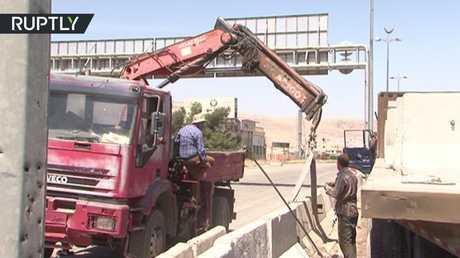 بدء ترميم طريق دمشق - حمص