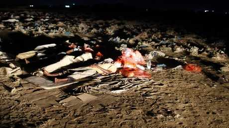 مهاجرون أفارقة يفترشون الأرض في اليمن