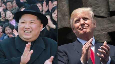 الرئيس الأمريكي دونالد ترامب، الزعيم الكوري الشمالي كيم جونغ أون