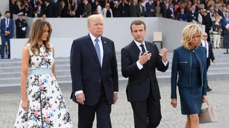 الرئيسان الأمريكي والفرنسي وزوجتيهما - أرشيف