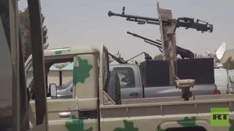 خروج مسلحي جيش الإسلام من مدينة الضمير