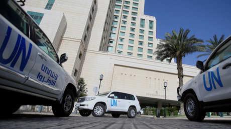 سيارات أممية مخصصة لتنقلات خبراء منظمة حظر الأسلحة الكيميائية في سوريا