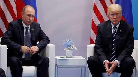 لقاء فلاديمير بوتين مع دونالد ترامب - أرشيف