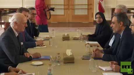 دي ميستورا يدعو دمشق لمزيد من التعاون