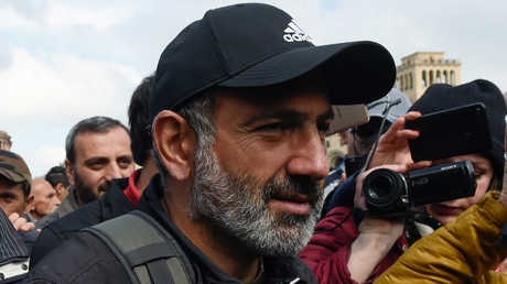 زعيم المعارضة الأرمنية نيكول باشينيان، يريفان، أرمينيا