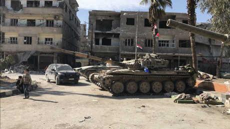عناصر الجيش السوري في ريف دمشق - أرشيف -
