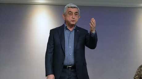 رئيس الوزراء الأرمني سيرج ساركيسيان، يريفان، أرمينيا، 22 أبريل 2018