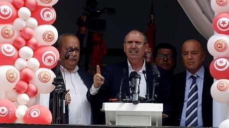 الأمين العام للاتحاد العام التونسي للشغل نور الدين الطبوبي - أرشيف -