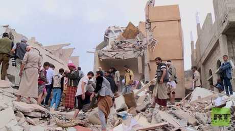 33 قتيلا بغارة للتحالف العربي شمال اليمن