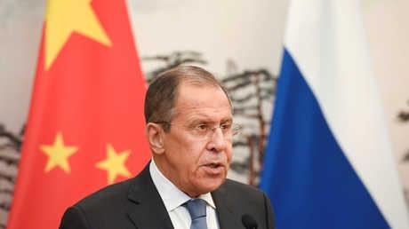 وزير الخارجية الروسي سيرغي لافروف، بكين، الصين