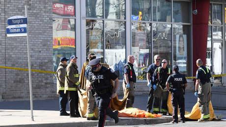 موقع حادث الدهس في تورونتو