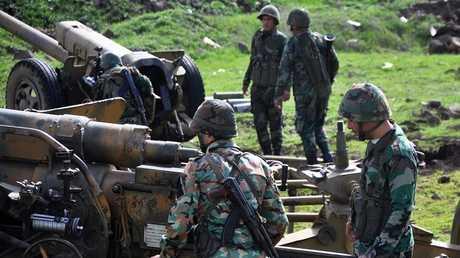 الجيش السوري في شمال محافظة حمص (صورة من الأرشيف)