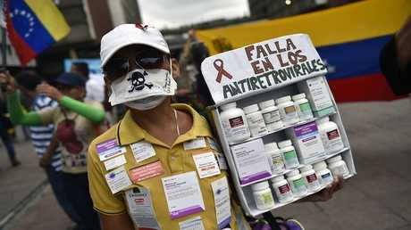 احتجاجات على نقص الأدوية والمواد الطبية في فنزويلا