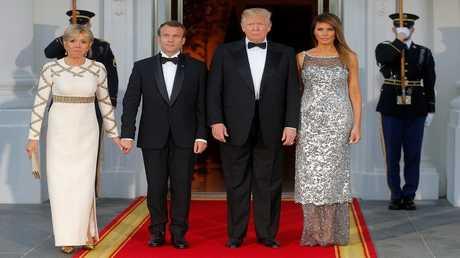 الرئيس الأمريكي دونالد ترامب ونظيره الفرنسي إيمانويل ماكرون