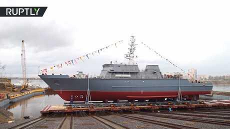 سفينة حربية روسية جديدة تدخل الخدمة