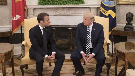 الرئيسين الفرنسي إيمانويل ماكرون والأمريكي دونالد ترامب