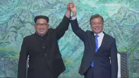 زعيما الكوريتين يعلنان سلاما بين البلدين