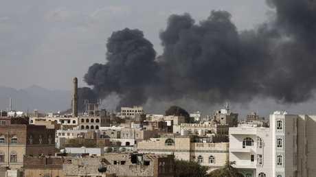 غارات للتحالف العربي على صنعاء - أرشيف