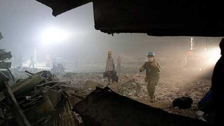 عمليات الإنقاذ بعد كارثة 11\9