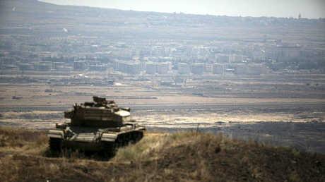 دبابة إسرائيلية في الجولان المحتل