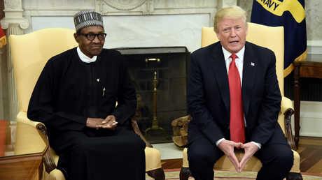 الرئيس الأمريكي، دونالد ترامب مع نظيره النيجيري محمد بخاري