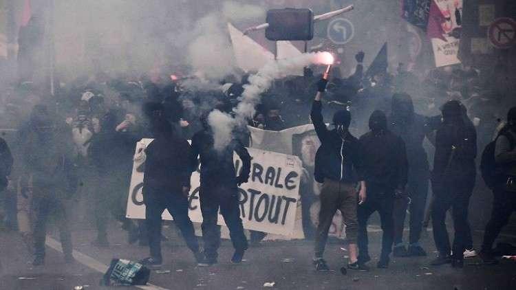 توقيف أكثر من 100 مشاغب خلال عيد العمال في باريس