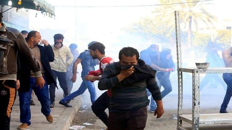 حريق في جامعة بغداد