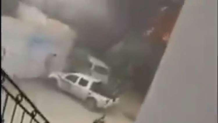 لقطات من داخل مقر اللجنة العليا للانتخابات بليبيا أثناء هجوم إرهابي